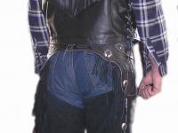 Motorkářská vesta ruční výroby