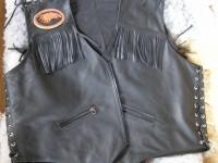 Motorkářská vesta ruční výroby 04