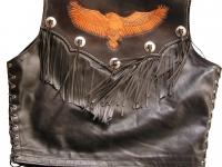 Motorkářská vesta ruční výroby 05