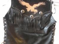 Motorkářská vesta ruční výroby 06