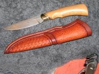 Ručně kovaný damaškový nůž 001