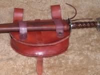 Kožená kabelka s pochvou na nůž 001