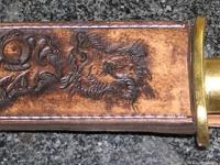 Kožená pochva na lovecký tesák 002