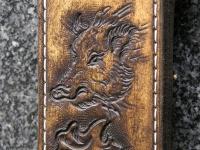 Kožená pochva na lovecký tesák 003