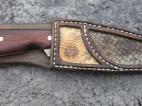 Pochva na nůž z hadí kůže 003