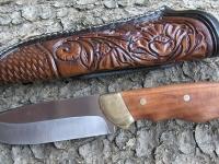 Ručně zdobená kožená pochva na nůž 003