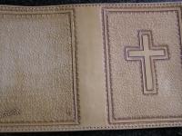 Kožený obal na bibli 001