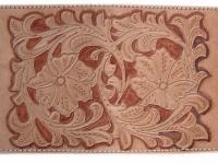 Ručně vyráběná kožená dokladovka motiv 2