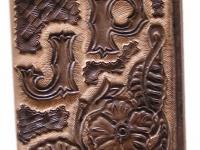 Ručně vyráběná kožená dokladovka motiv 3