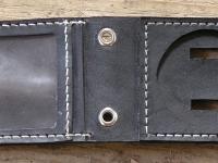 Ručně vyráběná kožená dokladovka motiv 5