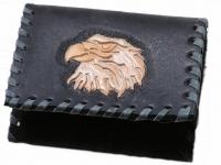 Ručně vyráběná kožená peněženka 07