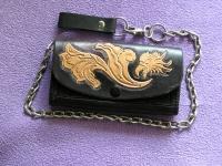 Ručně vyráběná kožená peněženka 09