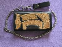Ručně vyráběná kožená peněženka 10