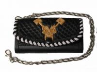 Ručně vyráběná kožená peněženka 12