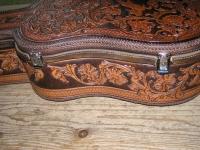 Kožené pouzdro na kytaru ruční výroby