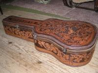 Kožené pouzdro na kytaru ruční výroby 03