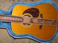 Kožený kufr na kytaru 001