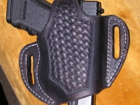 Kožené pouzdro na pistoli glock