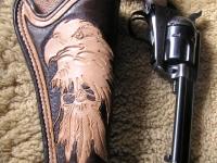 Kožené pouzdro na revolver