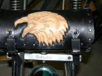 Kožená rolka na motorku ruční výroby