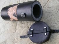 Kožená rolka na motorku ruční výroby 02