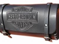 Kožená rolka na motorku ruční výroby 11