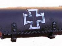 Kožená rolka na motorku ruční výroby 14