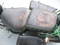 Kožené sedlo na motorku 06