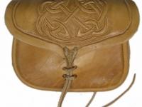 Kožená tašvice ruční výroby